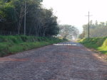 Strasse Richtung Paso Yobai in Paraguay